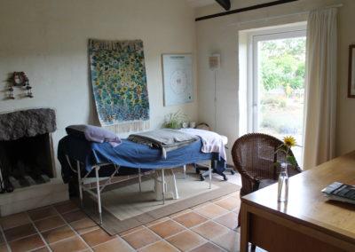 En af flere klinikker med udsigt til lægeurtehaven